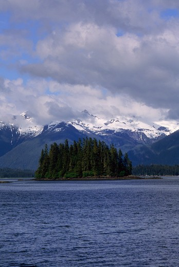 Stock Photo: 4168-3302 Usa, Alaska, Inside Passage, Frederick Sound, Near St. Petersburg