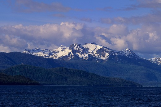Stock Photo: 4168-3304 Usa, Alaska, Inside Passage, Frederick Sound, Near St. Petersburg