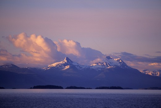 Stock Photo: 4168-3310 Usa, Alaska, Inside Passage, Frederick Sound, Near Admirality Island, Evening