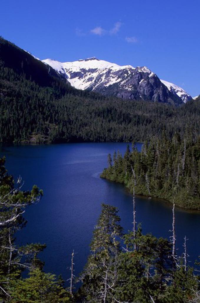 Usa, Alaska, Inside Passage, Baranof Island, View Of Baranof Lake : Stock Photo
