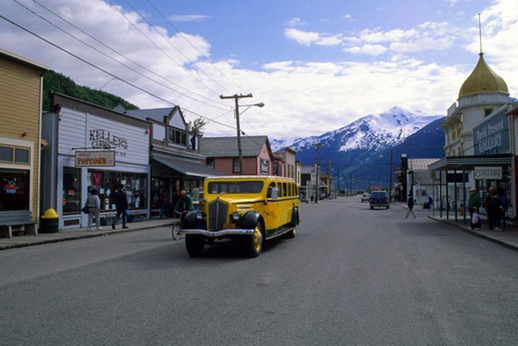 Stock Photo: 4168-3396 Usa, Alaska, Inside Passage, Skagway, Main Street