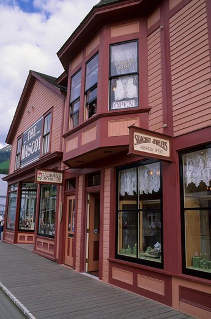 Usa, Alaska, Inside Passage, Skagway, Main Street : Stock Photo