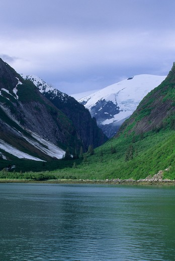 Usa, Alaska, Near Juneau, Tracy Arm, Fjord Landscape Carved By Glacier : Stock Photo