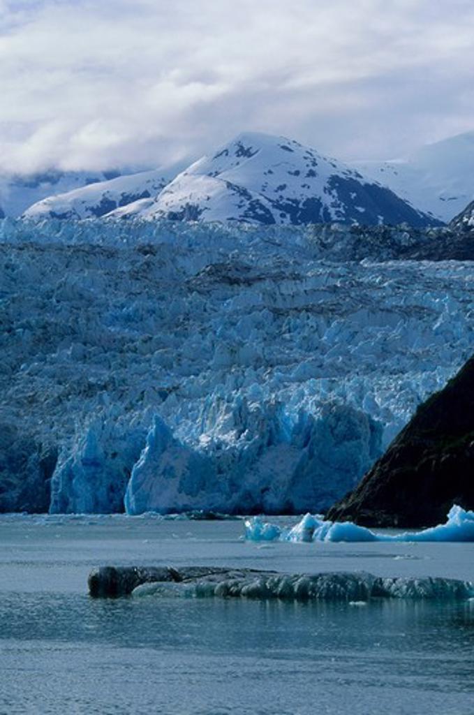 Usa, Alaska, Near Juneau, Tracy Arm, Sawyer Glacier : Stock Photo
