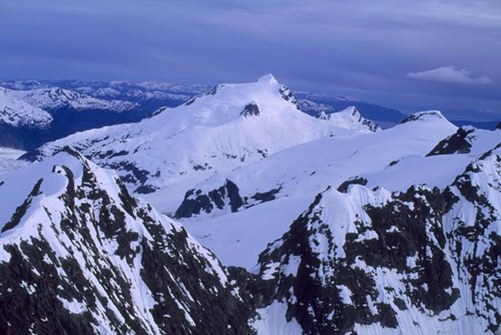 Stock Photo: 4168-3457 Usa, Alaska, Near Juneau, Aerial View Of Mountains At Mendenhall Glacier