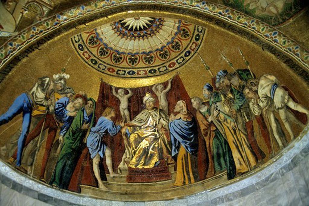 Italy, Venice, San Mark's, Mosaic : Stock Photo