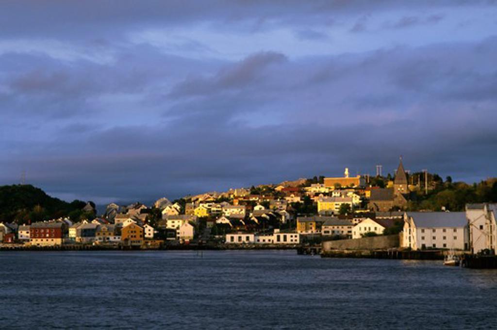 Norway, Kristiansund, View, Evening Light : Stock Photo