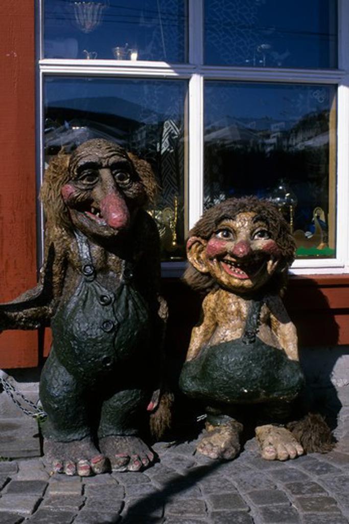 Norway, Bergen, Troll Statues : Stock Photo