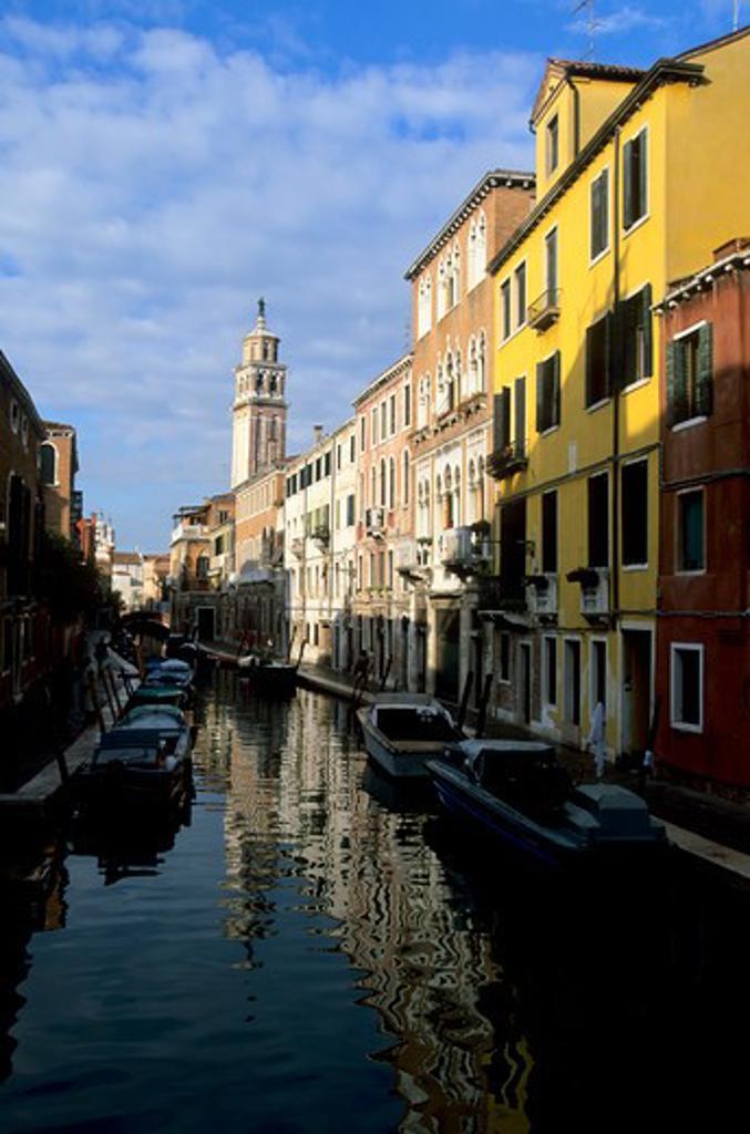 Stock Photo: 4168-4959 Italy, Venice, Canal Scene