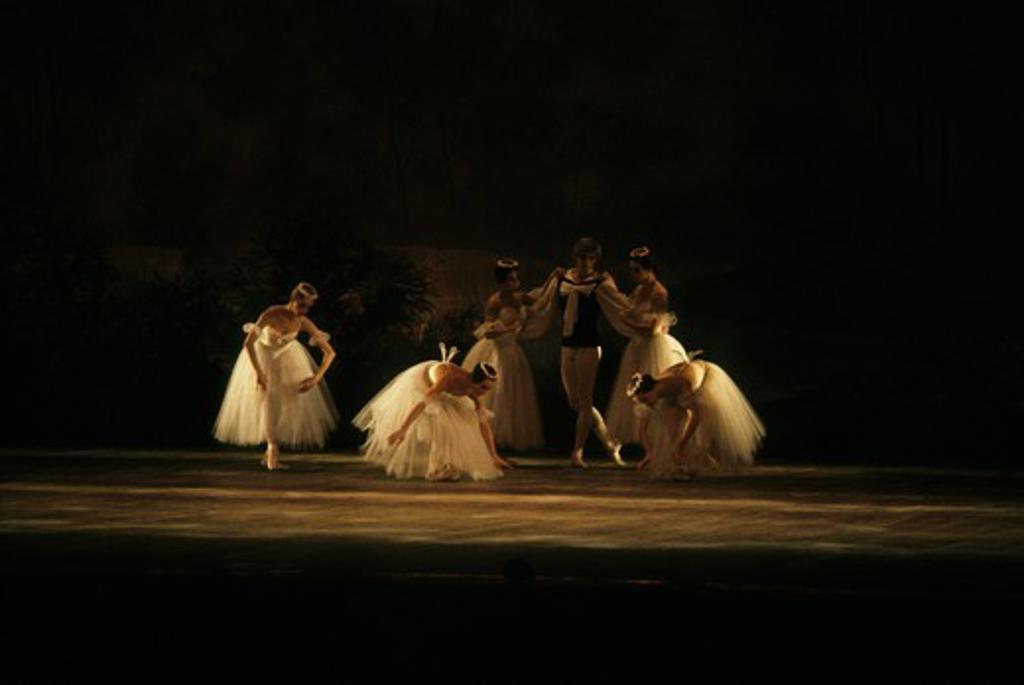 Stock Photo: 4168-4975 Russia, Moscow, Bolshoi Ballet, Performance of Swan Lake