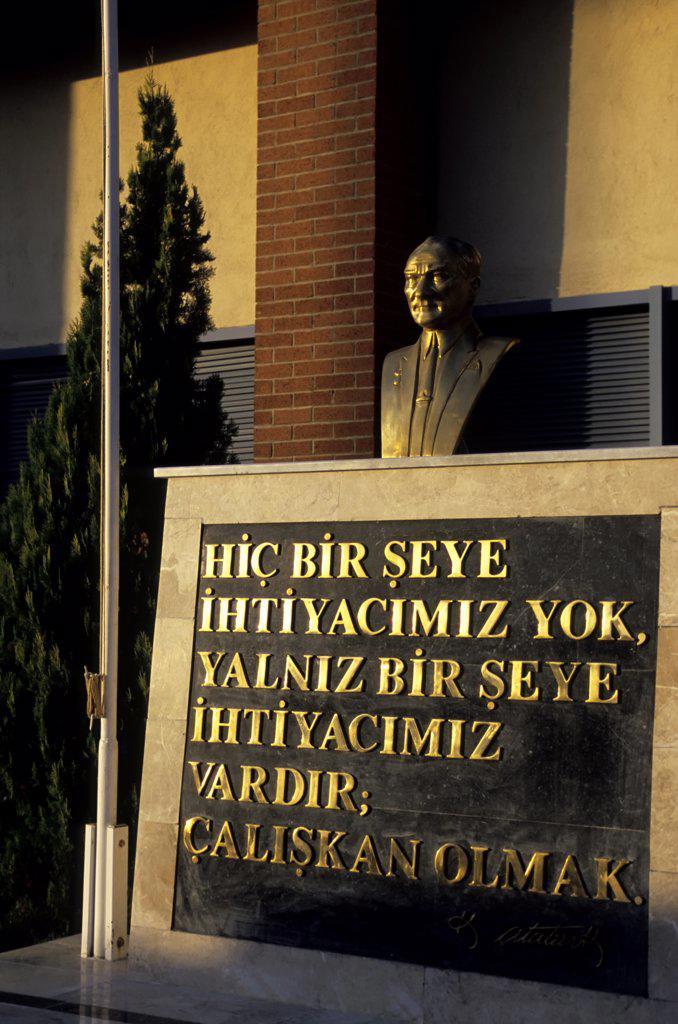 TURKEY, NEVSEHIR, AIRPORT, STATUE OF ATATURK : Stock Photo