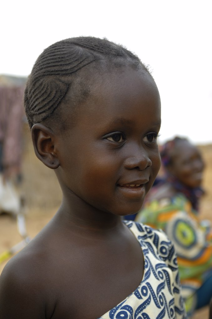 mali, segou, portrait of local girl : Stock Photo