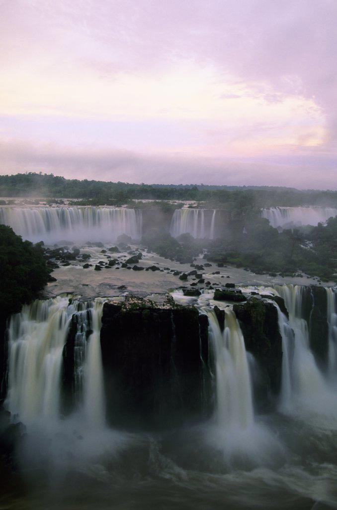 Brazil, Iguassu Falls at early morning : Stock Photo