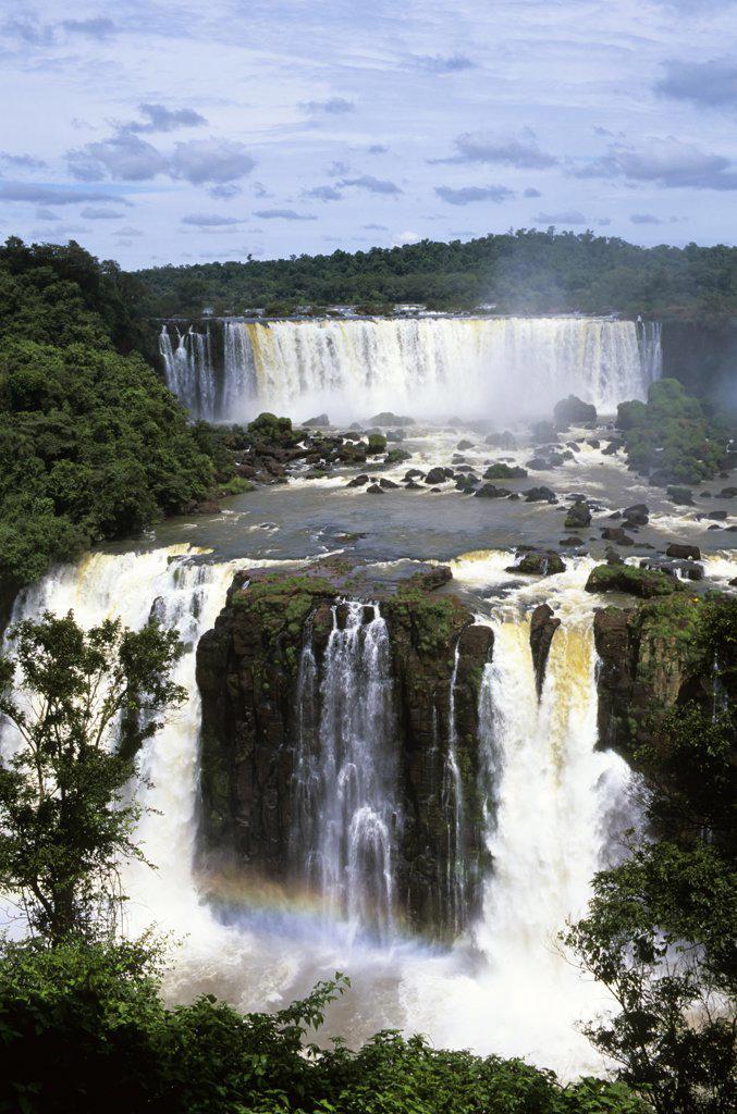 Stock Photo: 4168-8419 Brazil, Iguassu Falls