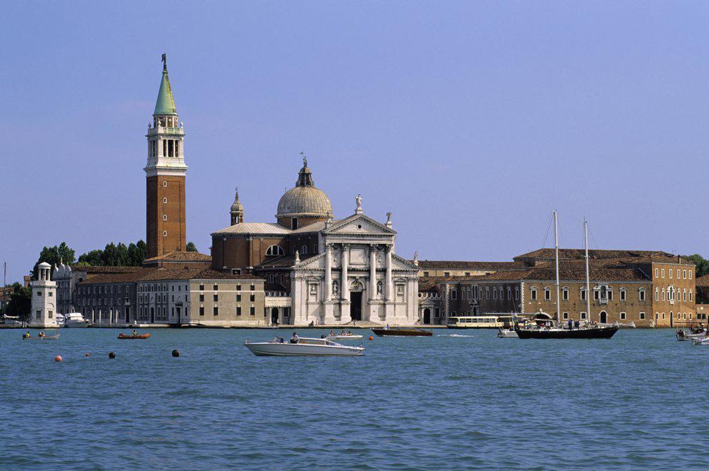 Italy, Venice, Giudecca Canal, View of San Giorgio Maggiore : Stock Photo