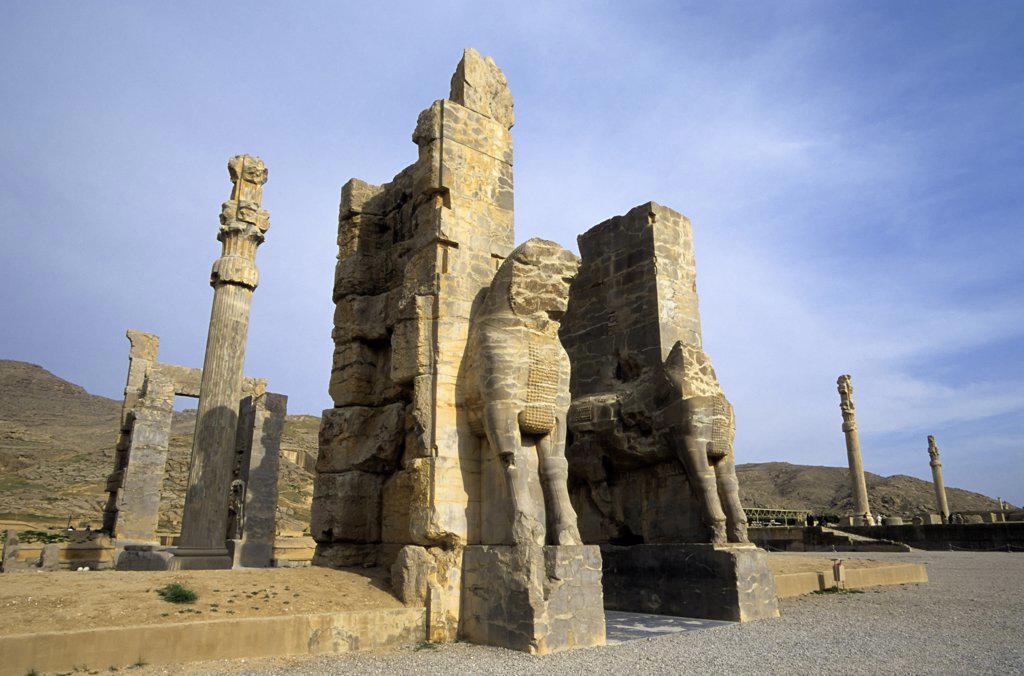 Stock Photo: 4168-9721 Iran, Near Shiraz, Persepolis, The Gate Of All Nations