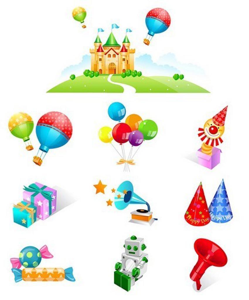 Various celebration favors : Stock Photo