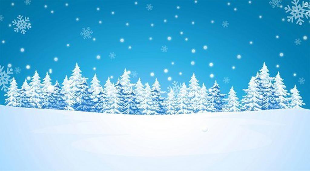 Snowing over a polar landscape : Stock Photo