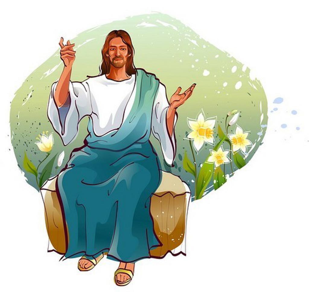 Jesus Christ blessing : Stock Photo