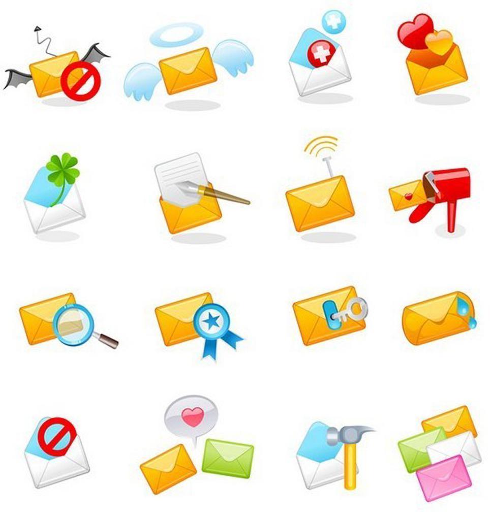 Various correspondence items : Stock Photo