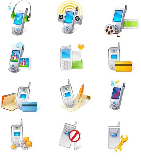 Various mobile phones : Stock Photo