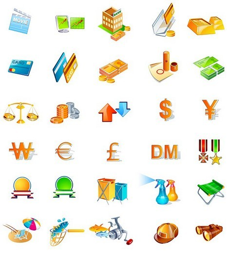 Different types of objects : Stock Photo