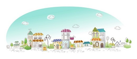 Stock Photo: 4170R-3423 Buildings in a city