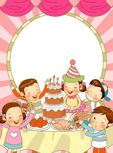Stock Photo: 4170R-4753 Children´s Birthday Party