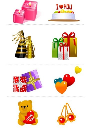 Close-up of assorted gifts : Stock Photo