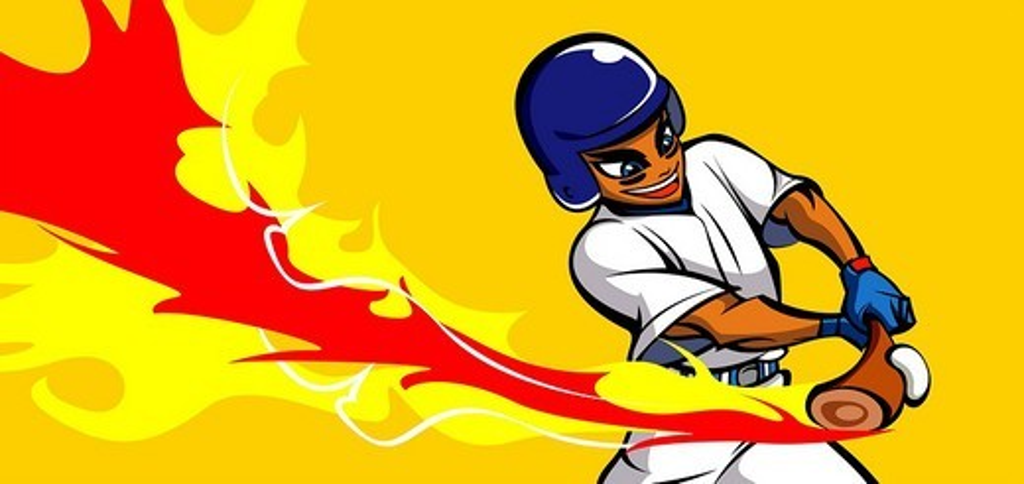 Stock Photo: 4170R-5758 Baseball player hitting a baseball with a baseball bat