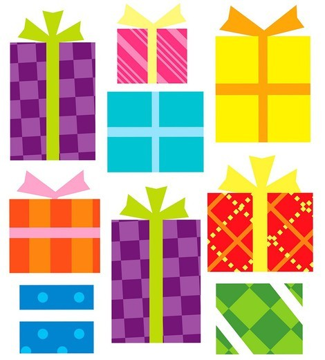 Close_up of gift box : Stock Photo