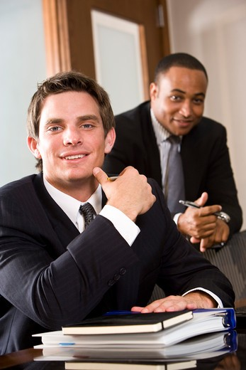 Stock Photo: 4172R-909 Multiethnic businessmen