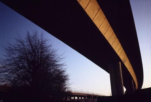 A bridge at twilight : Stock Photo