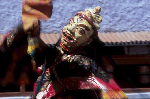 Mask dance at Leh Ladakh, India : Stock Photo