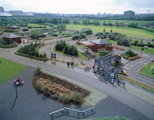 A children´s amusement park in Laugardalur,Iceland : Stock Photo
