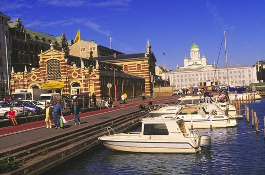 Saluhallen salutorget Helsingfors Finland : Stock Photo