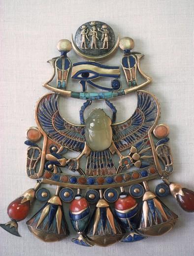 Stock Photo: 4176-13966 Pharaonic art jewelery from Tutankhamon's collection