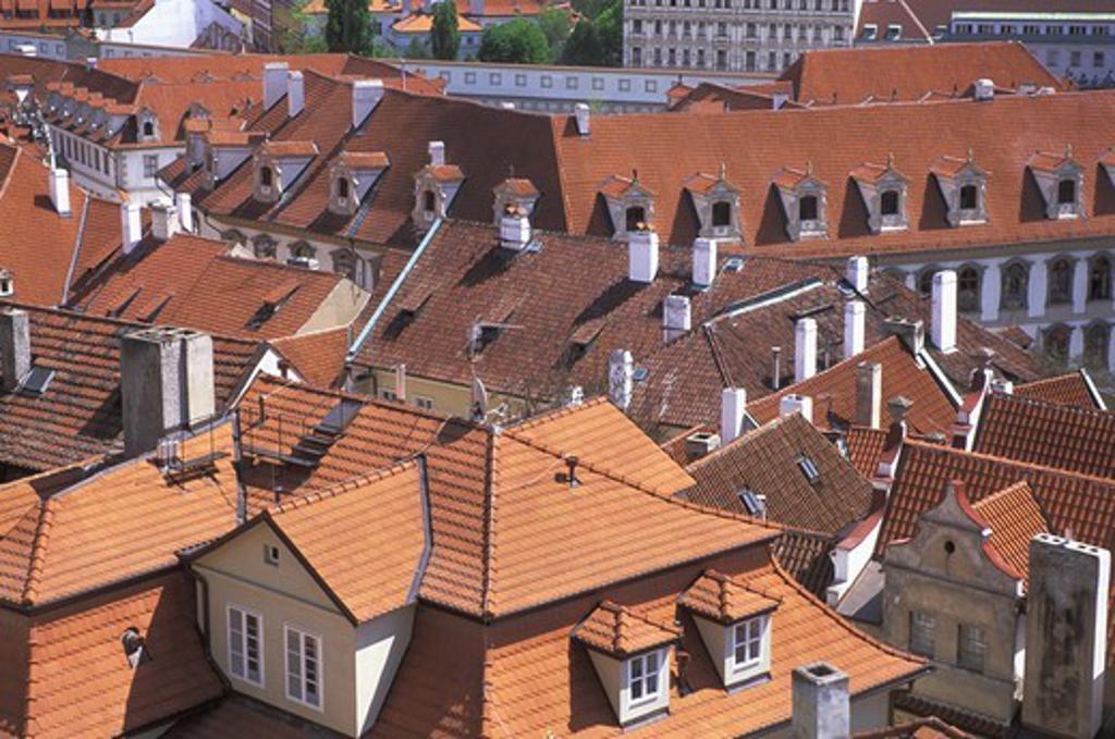CZECH REPUBLIC PRAGUE MALA STRANA LESSER QUARTES ROOFTOPS : Stock Photo