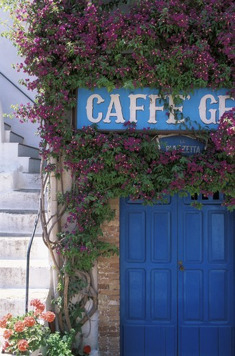 Stock Photo: 4176-14545 ITALY SPERLONGA CAFE