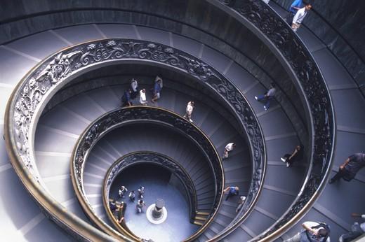 Stock Photo: 4176-15761 ITALY ROME VATICAN MUSEUM HELICOIDAL STAIRCASE ARCH GIUSEPPE MOMO
