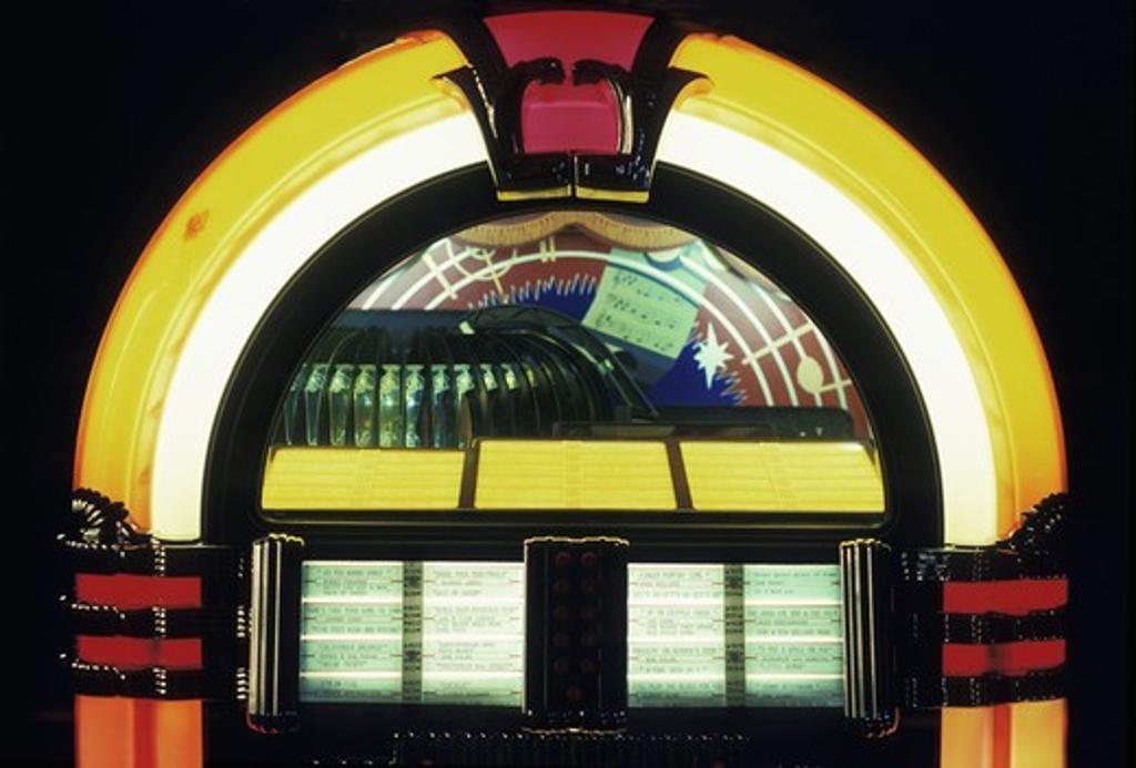 WURLITZER MUSIC JUKEBOX : Stock Photo