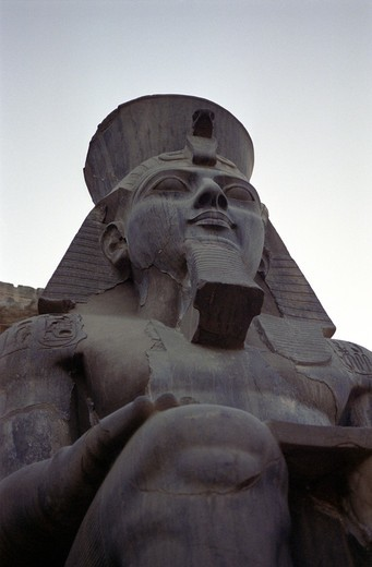 Stock Photo: 4176-1632 Ramses II at the temple of Luxor in Egypt
