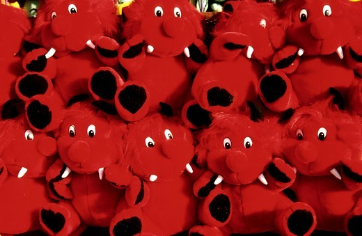 Stock Photo: 4176-16932 Close-up of stuffed toys