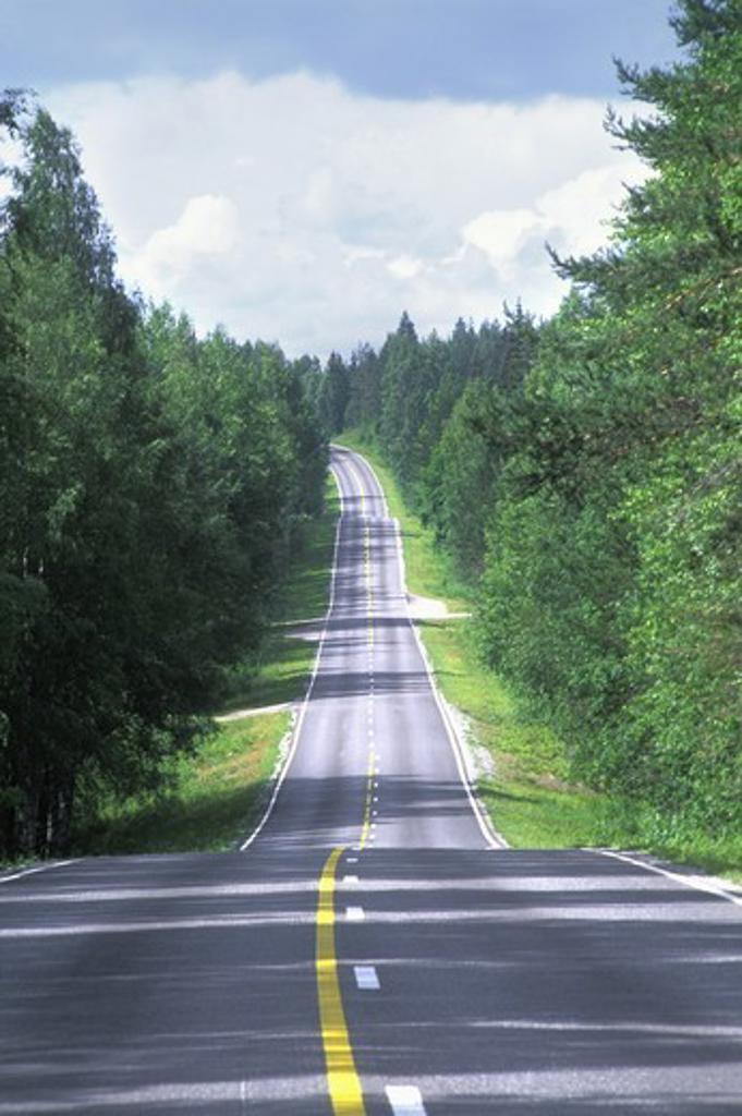 Stock Photo: 4176-17131 FINLAND SAIMAA LAKELANDS COUNTRY ROAD