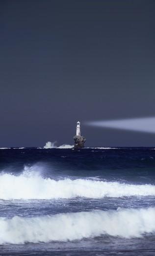 GREECE ANDROS ISLAND LIGHTHOUSE : Stock Photo