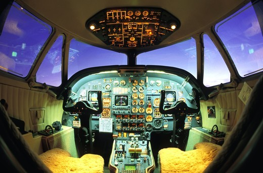 Stock Photo: 4176-17433 Airplane cockpit