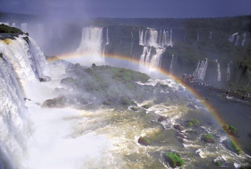 ARGENTINA BRAZIL PARANA IGUASSU IGUAZU FALLS : Stock Photo