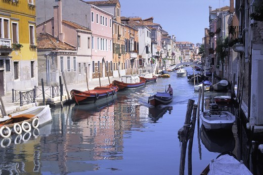ITALY VENICE CANALS AT VENETIAN GHETTO : Stock Photo