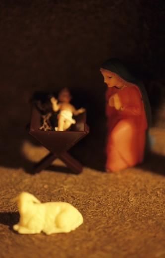 Stock Photo: 4176-18821 Nativity scene statues