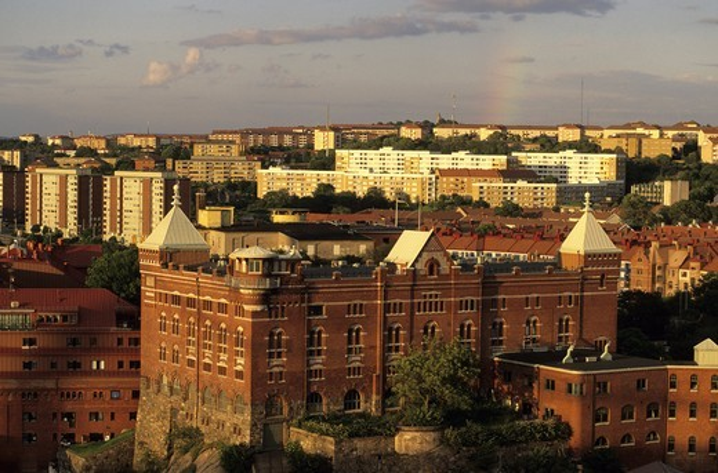 Apartment building in Gothenburg, Sweden : Stock Photo